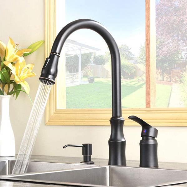 Hotis Modern Oil Rubbed Bronze Pull Out Stain...