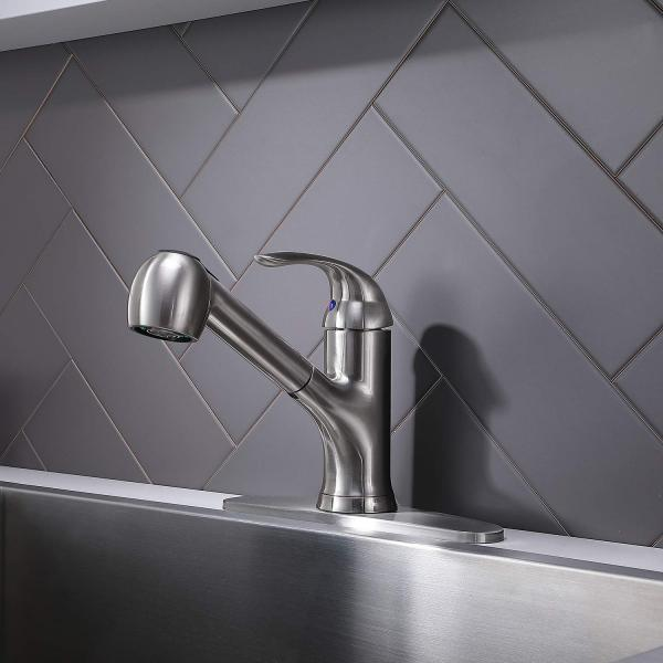 Hotis Modern Brushed Nickel Stainless Steel S...